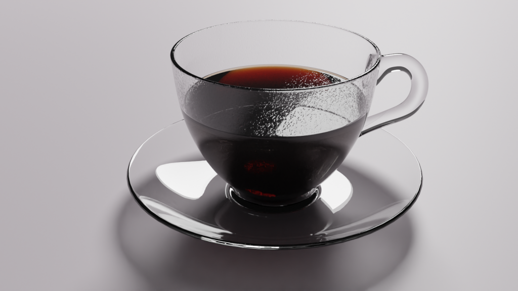 Black coffee with condensation